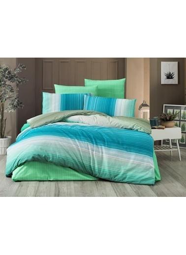 Komfort Home Tek Kişilik Polycotton Nevresim Takımı (Rainbow Yeşil) Yeşil